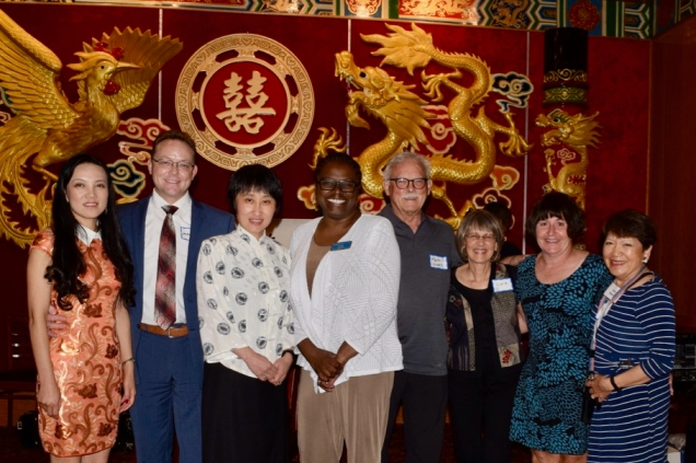 Jane at a gathering of the Chinese American Society of Ann Arbor