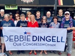 Jane with Dingell on July 4 2019